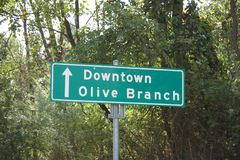 Olive Branch Mississippi van de binnenstad royalty-vrije stock afbeeldingen