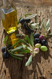 Olive branch with oil Royalty Free Stock Photos