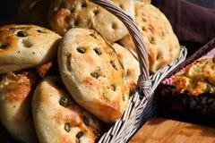 Olive Bread Stock Afbeeldingen