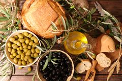 Olive and bread royalty free stock image