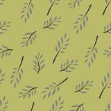 Olive brunch set. Digital illustration Royalty Free Stock Photography