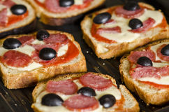 Olive bruschetta Royalty Free Stock Images