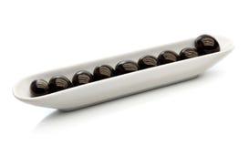 Olive in ceramic tableware Stock Images