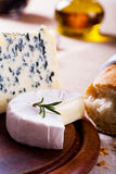 Olive and cheese Royalty Free Stock Images