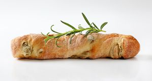 Olive ciabatta bread Royalty Free Stock Images
