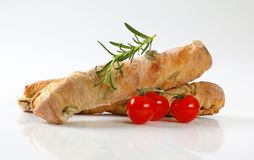 Olive ciabatta bread Stock Images