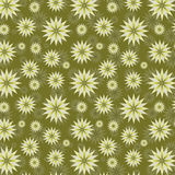 Olive Colored Abstract Floral Background Royalty-vrije Illustratie