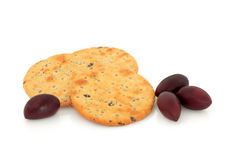 Olive Cracker Biscuits Stock Photos
