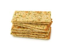 Olive crackers Stock Image