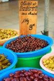 Olive da vendere Fotografie Stock Libere da Diritti