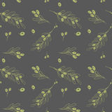 Olive dark seamless vector pattern Royalty Free Stock Photography
