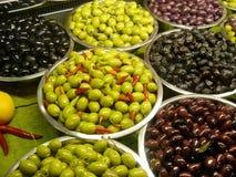 Olive dell'assortimento Immagini Stock