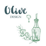 Olive design illustration. Royalty Free Stock Photography