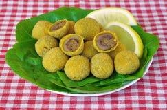 Olive di Ascolana Fotografia Stock