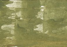 Olive drab streaked wash drawing painting Royalty Free Stock Photography