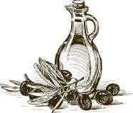 Olive e olio d'oliva Fotografia Stock Libera da Diritti
