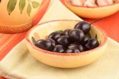Olive ed aglio fotografia stock libera da diritti