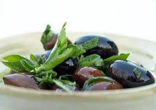 Olive ed erbe Fotografie Stock Libere da Diritti