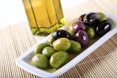 Olive ed olio Immagine Stock Libera da Diritti