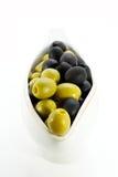 Olive ed oliva Immagine Stock