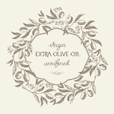 Olive extra virgin. Hand drawing background Stock Photos
