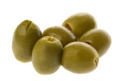 Olive farcite di Manzanilla Fotografia Stock