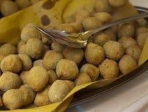 Olive farcite fritte Immagine Stock Libera da Diritti