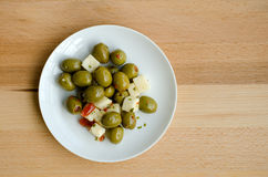 Olive and feta cheese Royalty Free Stock Image
