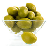 Olive fruit close up on white background Royalty Free Stock Image