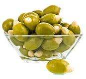 Olive fruit close up on white background Royalty Free Stock Image