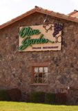 Olive Garden Italian Restaurant. Olive Garden is a family restaurant, providing their guests with genuine Italian dining.  Inspired by the Italian culture Stock Images