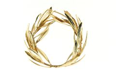 Olive gold wreath Stock Photo