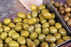 Olive green and black pickle fruit Royalty Free Stock Photo