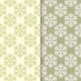 Olive green floral backgrounds. Set of seamless patterns Stock Photos