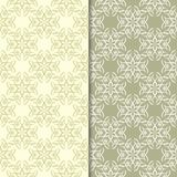 Olive green floral backgrounds. Set of seamless patterns. For textile and wallpapers Stock Photography