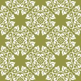 Olive green floral seamless pattern. Olive green floral ornament. Seamless pattern for textile and wallpapers Royalty Free Stock Image