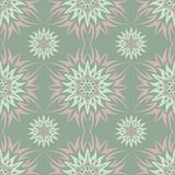 Olive green floral seamless pattern. Background with flower designs. For wallpapers, textile and fabrics Royalty Free Stock Photography