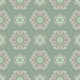 Olive green floral seamless pattern with pale pink elements. Background with flower designs. For wallpapers, textile and fabrics Royalty Free Stock Photos