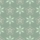 Olive green floral seamless pattern with pale pink elements. Background with flower designs. For wallpapers, textile and fabrics Royalty Free Stock Image