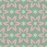 Olive green floral seamless pattern with pale pink elements. Background with flower designs. For wallpapers, textile and fabrics Stock Photo