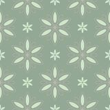 Olive green floral seamless pattern with pale pink elements. Background with flower designs. For wallpapers, textile and fabrics Royalty Free Stock Photography