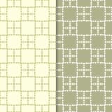 Olive green geometric seamless patterns. For web, textile and wallpapers Royalty Free Stock Photo
