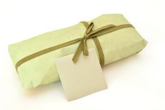 Olive green gift box Royalty Free Stock Photos