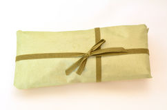 Olive green gift box Royalty Free Stock Photography