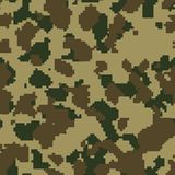 Olive green seamless digital camo Royalty Free Stock Photo