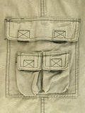 Olive green thick cloth trousers pocket Royalty Free Stock Images