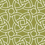 Olive green and white geometric ornament. Seamless pattern. For web, textile and wallpapers Stock Images