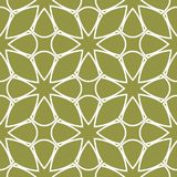 Olive green and white geometric ornament. Seamless pattern. For web, textile and wallpapers Royalty Free Stock Image