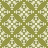 Olive green and white geometric ornament. Seamless pattern. For web, textile and wallpapers stock illustration
