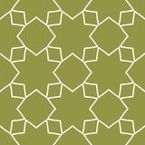Olive green and white geometric ornament. Seamless pattern. For web, textile and wallpapers Stock Image